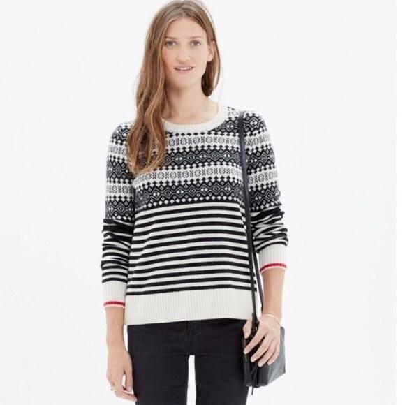 Madewell Sweaters - Madewell | 100% Merino Wool Fairstripe Sweater